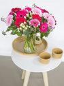 Boeket verse bloemen met kleurrijke Gerbera's