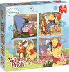 Winnie the Poeh 4-in-1 Puzzel - 16 stukjes