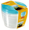 Curver Set Fresh&Go Vershouddozen - 3x 0,5 l - Kunststof - Rond - Transparant/Translucent precious blauw - Set van 3 stuks