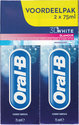 ORAL B 3D White Glamour - 2x 75 ml - Tandpasta