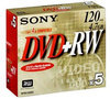 Sony DVD+RW 120min/4,7GB 4x - 5 stuks / jewelcase