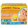 Pampers Simply Dry - Luiers Maat 4 Jumbo box 74 st.