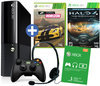 Microsoft Xbox 360 Super Slim 250GB  Console + 1 Wireless Controller + Forza Horizon + Halo 4 - Game Of The Year Edition + 1 Maand Xbox Live Gold - Zwart Xbox 360 Bundel