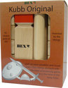 Kubb Viking Original Rode Koning Rubberhout