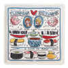 Blond Amsterdam Love Sushi Bord - 18 x 18 cm - 1 stuk