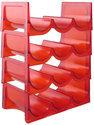 Adamo Wijnrek Stapelbaar 4 Lagen/12 Flessen - Rood
