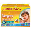 Pampers Simply Dry - Luiers Maat 4+ Jumbo box 70 st.