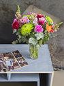 Boeket verse bloemen met bonte bloemenmix