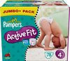 Pampers Active Fit - Luiers Maat 4 - Jumbo Pack plus 78st
