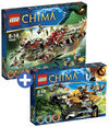 LEGO Chima voordeelbundel: Laval's Royal Fighter 70005 + Cragger's Command Ship 70006