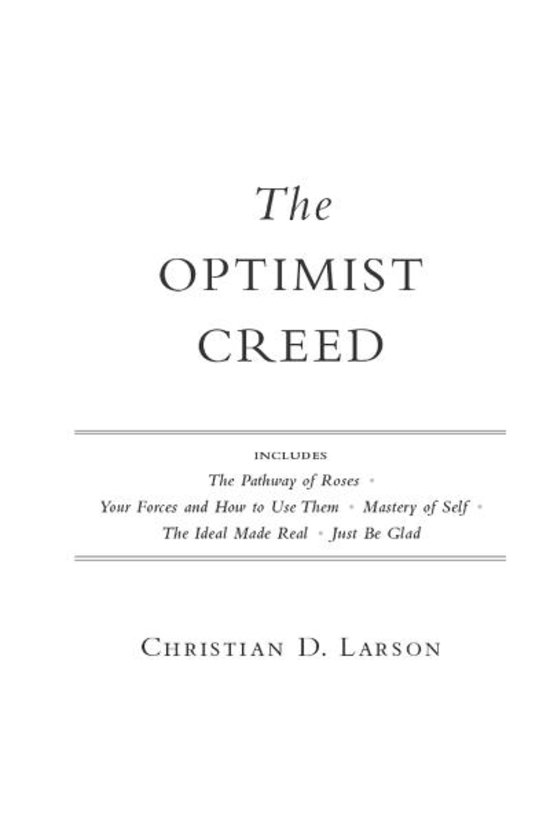 Bol Com The Optimist Creed Ebook Adobe Epub Christian border=