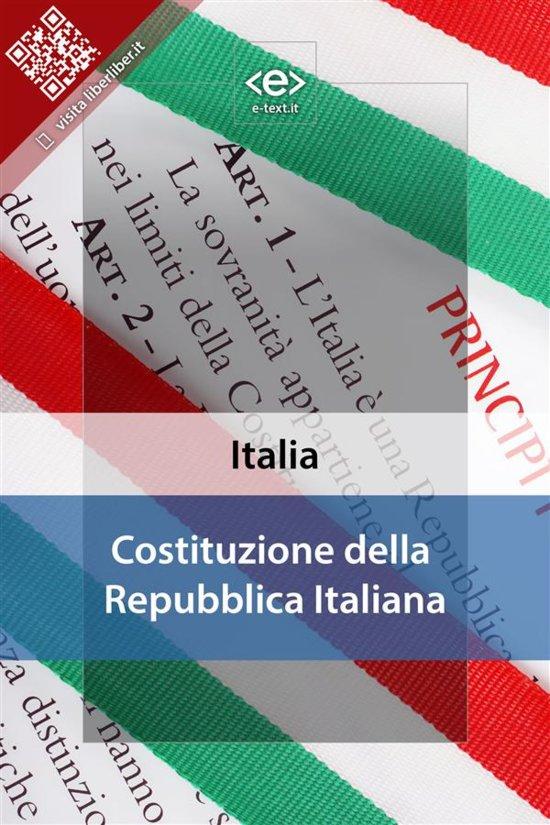 Costituzione della repubblica italiana ebook for Senatori della repubblica italiana nomi