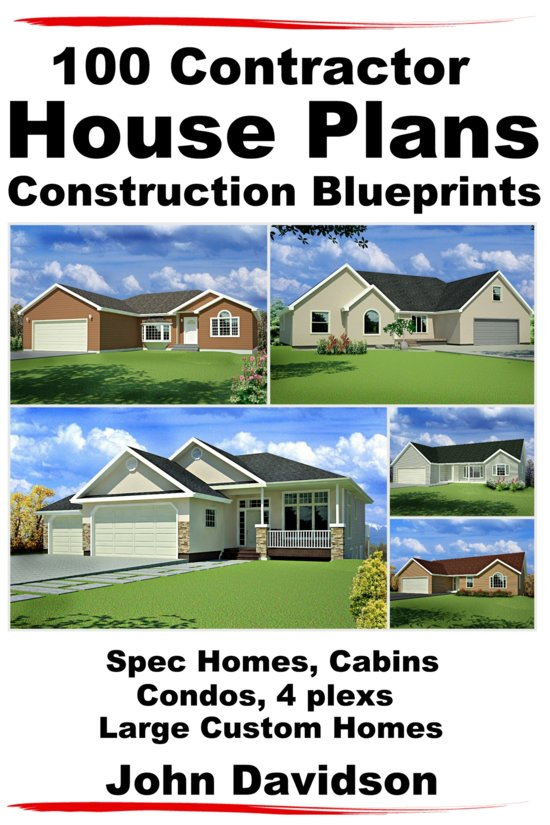 100 Contractor House Plans Construction Blueprints Spec