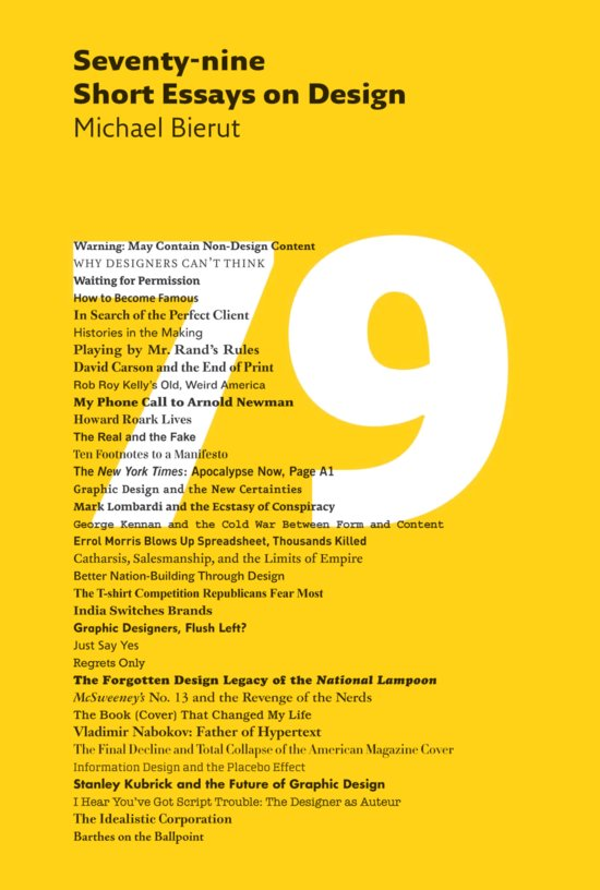 ... Bierut: Seventy-nine Short Essays on Design   Designers & Books