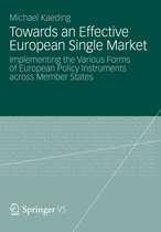 Towards an Effective European Single Market