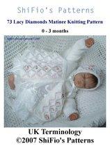73 Lacy Diamonds Pattern Knitting #73