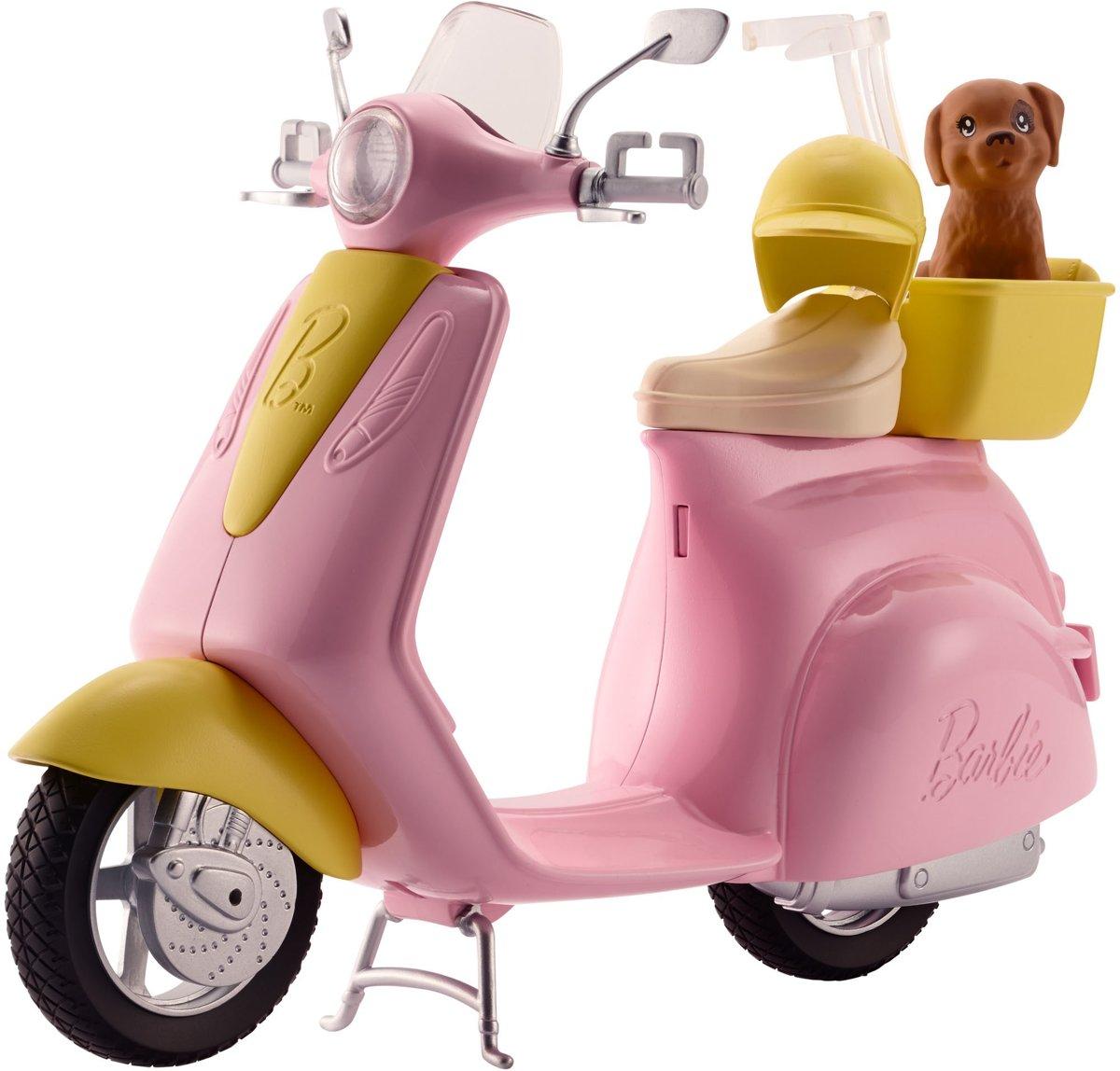 barbie met scooter kleurplaten