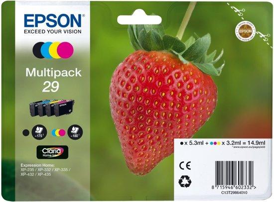 Epson 29 - Inktcartridge / Zwart / Geel / Magenta / Cyaan