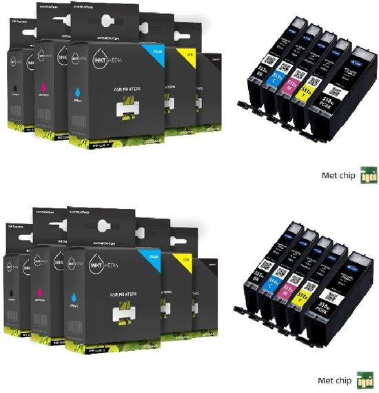 Merkloos - Inktcartridge / Alternatief voor Canon PGI–550 XL / CLI–551 XL cartridges / 4x Zwart / 2x Cyaan / 2x Magenta / 2x Geel / 2x Fotozwart - Hoge Capaciteit