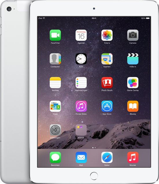 Apple iPad Air 2 - 4G + Wi-Fi - Wit/Zilver - 64GB - Tablet