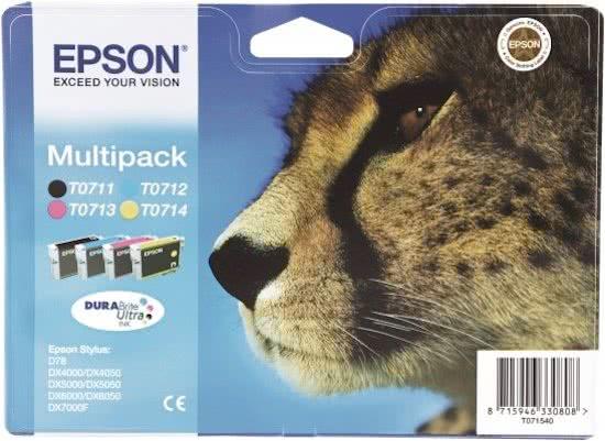 Epson T0715 - Inktcartridge / Cyaan / Geel / Magenta / Zwart