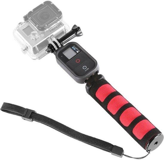 monopod remote uitschuifbare gopro selfie stick met clip voor gopro remote. Black Bedroom Furniture Sets. Home Design Ideas