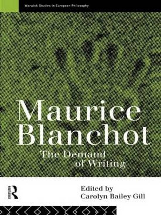blanchot romantique a collection of essays Il présente la nouvelle école romantique allemande  repris dans les critical and miscellaneus essays, il parlera de  1987, collection.