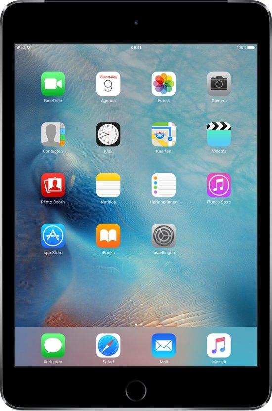 Apple iPad Mini 4 - 4G + WiFi - 64GB - Zwart/Grijs