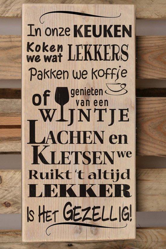 Houten Tekstbord Keuken : Tekstbord steigerhout 19,5x40cm In onze keuken – 922025122014