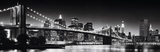 bol.com  Canvas New York - Brooklyn Bridge in zwart/wit  Wonen