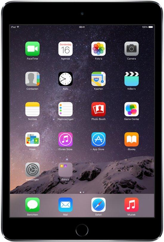 Apple iPad Mini 3 - Zwart/Grijs - 16GB - Tablet