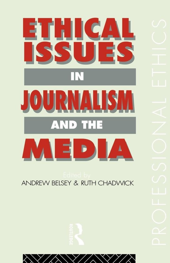 journalism professional ethics About this lesson journalists make important decisions every day of their professional careers how do they make those decisions how should they make those decisions.