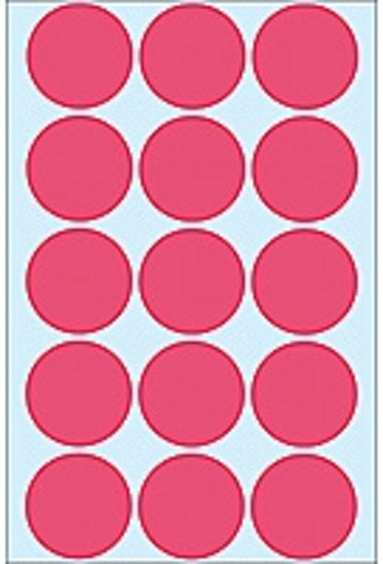 HERMA 2276 Univers. etiket. bureauverp. fluor-rood Ø 32 mm Papier 360 St.