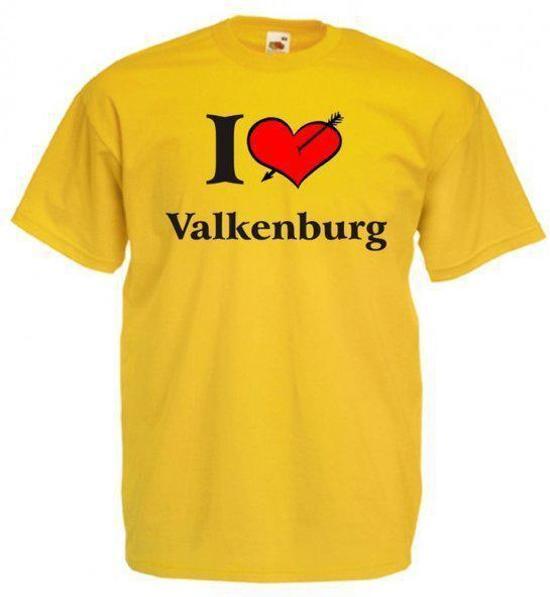 Mijncadeautje T-shirt Oker geel (maat XXL) - Valkenburg in Ehein