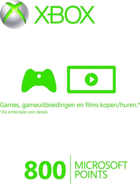 Microsoft Xbox Live 800 Microsoft Punten - Xbox 360 + Xbox One