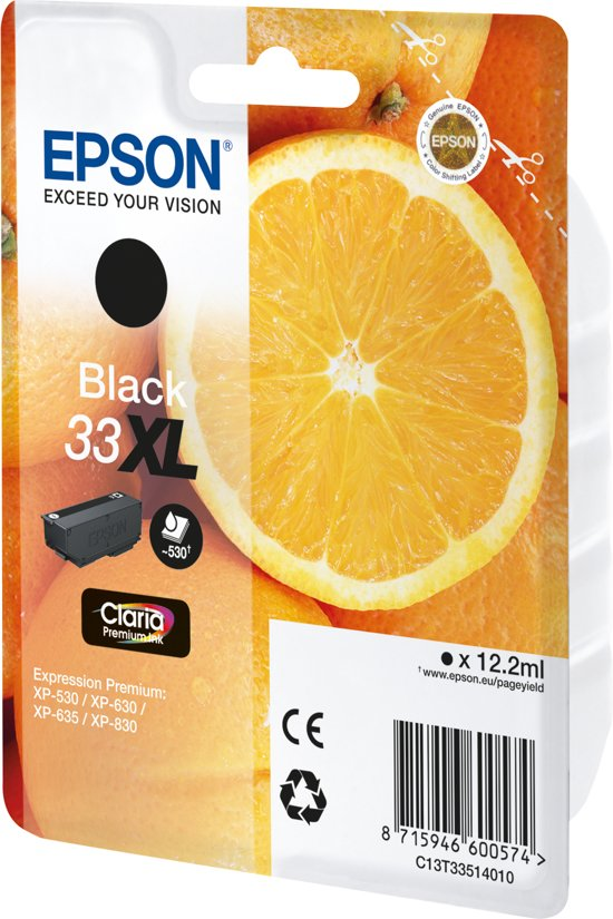 EPSON 33XL Inkt Cartridge Oranges Claria Premium Zwart