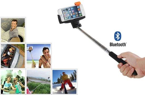 selfie stick selfiestick met ingebouwde bluetooth afstandsbedieni. Black Bedroom Furniture Sets. Home Design Ideas