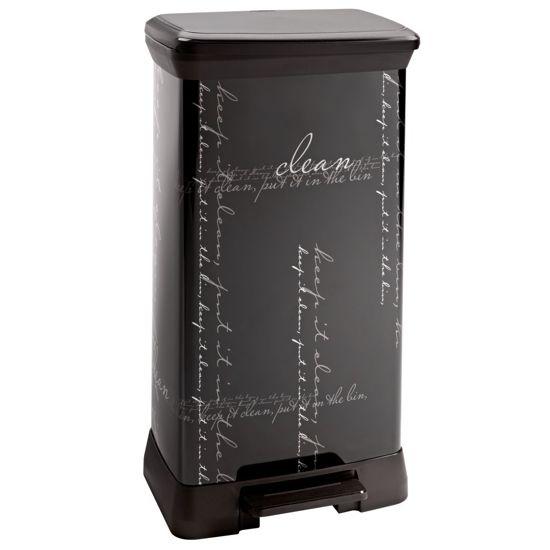 curver decobin pedaalemmer 50 l zwart. Black Bedroom Furniture Sets. Home Design Ideas
