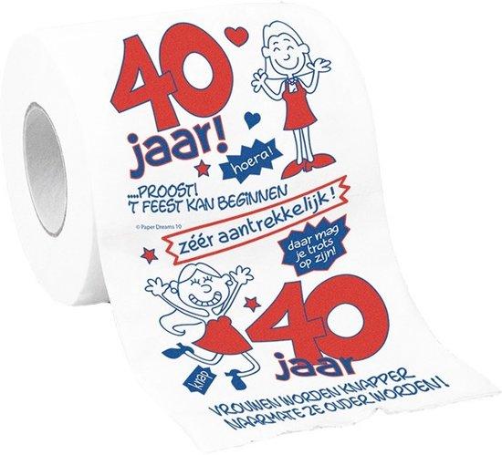 40 Jaar Spreuken Spandoek