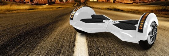 Kraftway Hoverboard - 8.5 inch - Wit in Werendijke