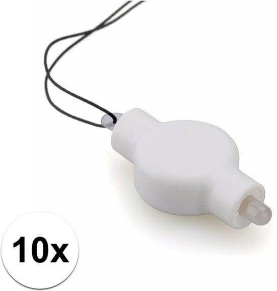 10 lampion LED lampjes in Boveneind