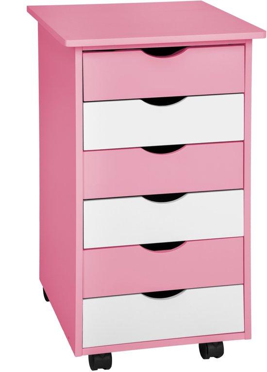 Tectake 400924 ladeblok roze for Ladeblok voor zweefdeurkast