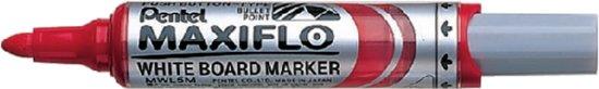 Pentel viltstift MWL5M maxiflo whiteboard rood 3mm in Emmeloord