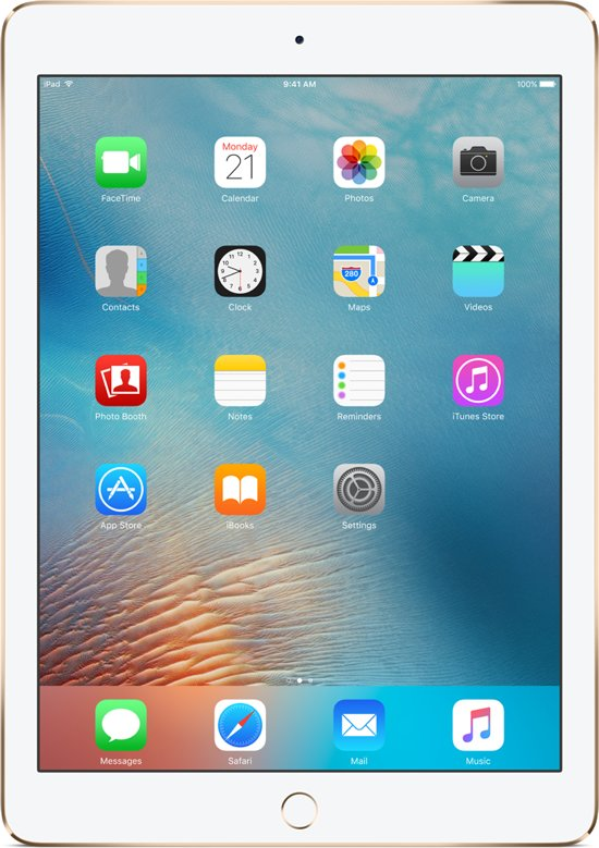Apple iPad Pro - 9.7 inch - 256 GB - WiFi + 4G - Goud - Tablet