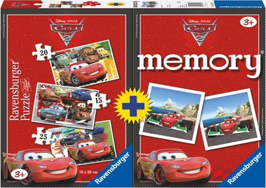 ... Ravensburger Cars - 2 in 1 Puzzel en Memory,Ravensburger : Speelgoed