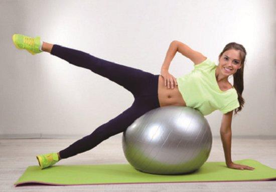 yoga bal oefeningen