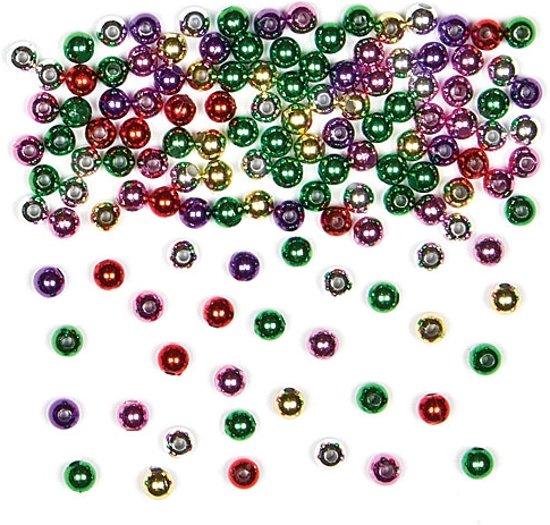 Gekleurde metallic tussenkralen  - creatieve knutselpakket/kralenset voor kinderen en volwassen voor armband en sieraden maken (450 stuks) in Zuidwolde