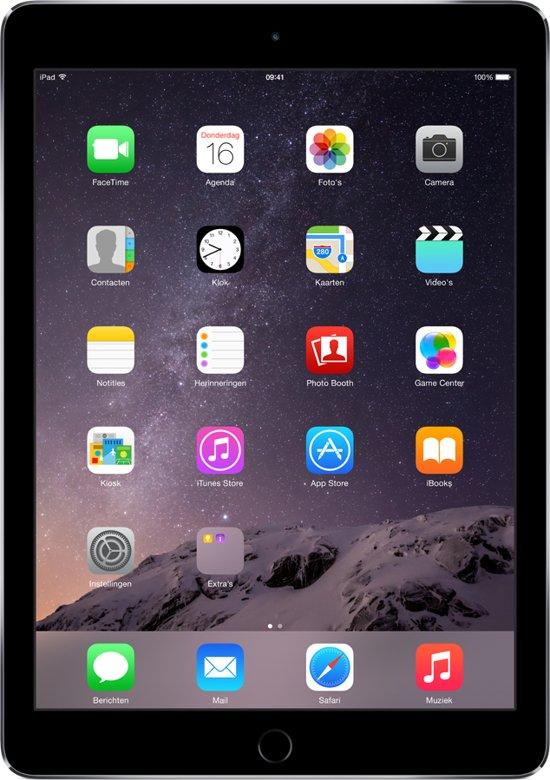 Apple iPad Air 2 - Wi-Fi - Spacegrijs -128GB - Tablet