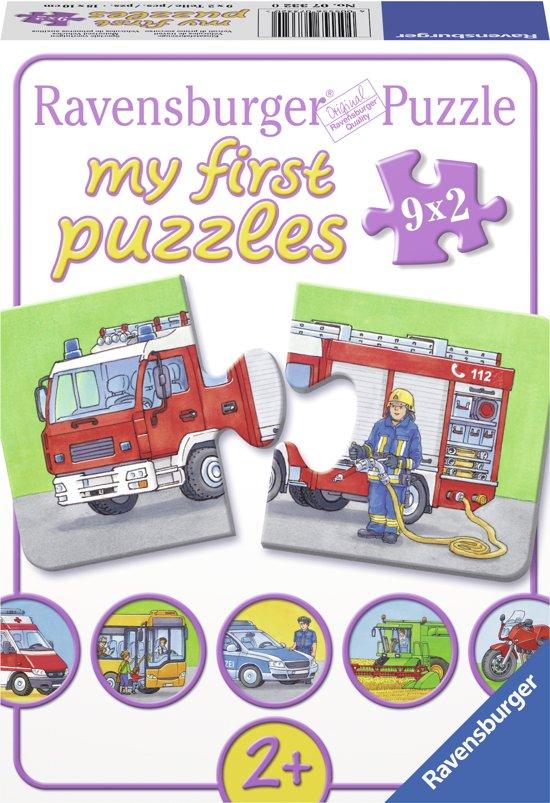 Ravensburger Speciale voertuigen - My First puzzles (9x2 stukjes) in Koelveen