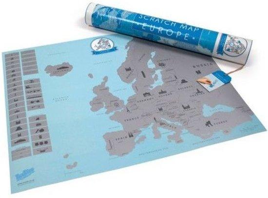 Luckies Kras Wereldkaart - Scatch Map - Europa in Wijchen